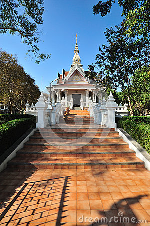 The Nakhonphanom City Pillar Shrine, Famous place to travel at Nakhonphanom, Thailand