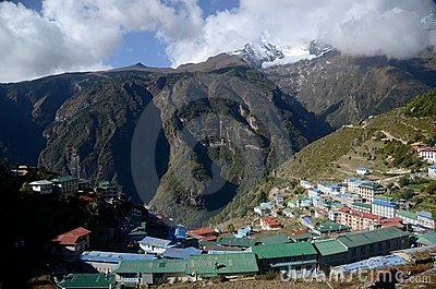 Namche Bazaar Editorial Stock Photo