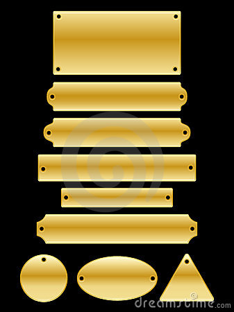 Name Plates Vector Illustration