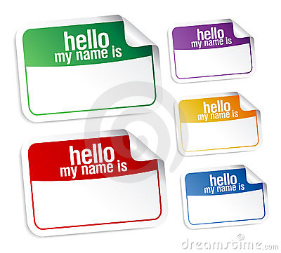 Name tag blank stickers.
