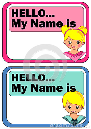 Name Tags For Kids Stock Vector Image 45139471