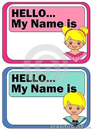 Name Tags For Kids Cartoon Vector Cartoondealer Com