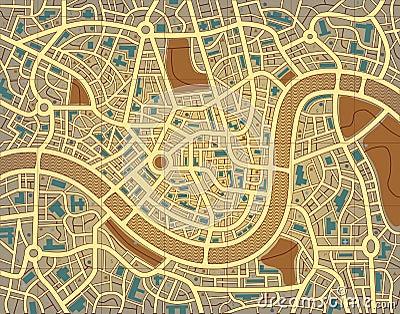 Nameless city map Vector Illustration