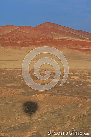 Namibian desert aerial view