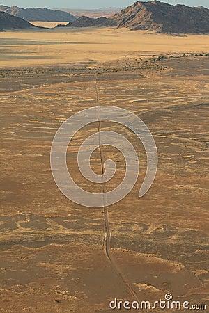 Namibian desert landscape mountains