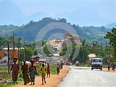 NAMPULA, MOZAMBIQUE - 6 DECEMBER 2008: the Fantastic nature of M Editorial Image