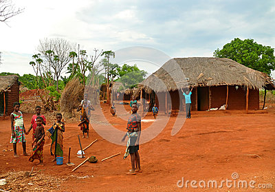 NAMPULA, MOZAMBIQUE - 6 DECEMBER 2008: The settlement. National Editorial Image