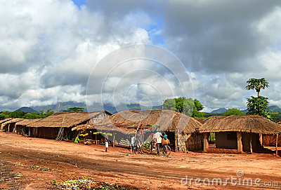 NAMPULA, MOZAMBIQUE - 7 DECEMBER 2008: The settlement. National Editorial Stock Photo