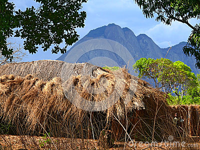 NAMPULA, MOZAMBIQUE - 6 DECEMBER 2008: The settlement. National Editorial Stock Image