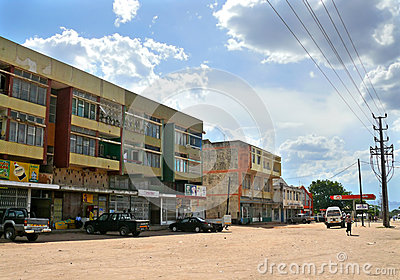NAMPULA, MOZAMBIQUE - 6 DECEMBER 2008: the Village. Editorial Photography
