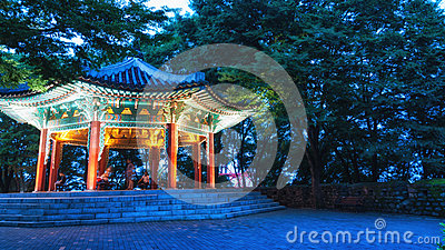 Namsan Pavilion Editorial Stock Image