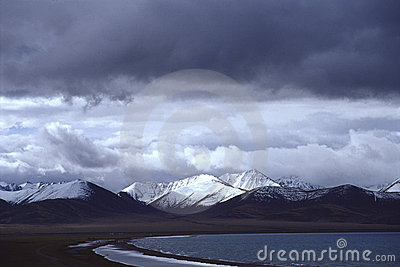 Namtso lake, cloud