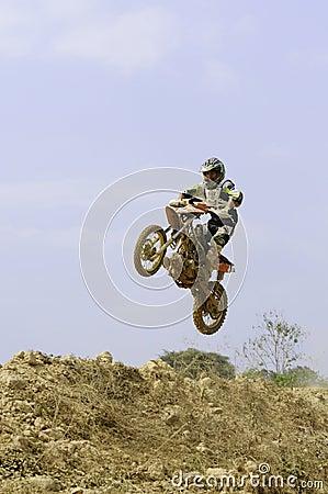 Nan motocross championship,Thailand Editorial Image