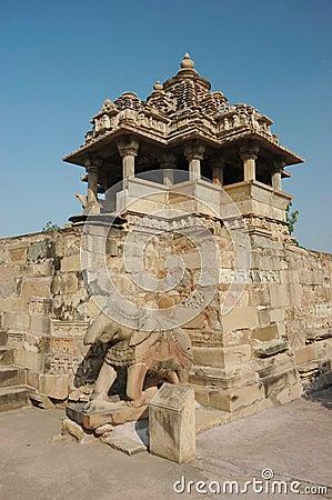 Nandi (bull) temple at Khajuraho,India