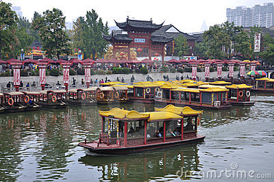NanJing City Confucius Temple Editorial Stock Photo