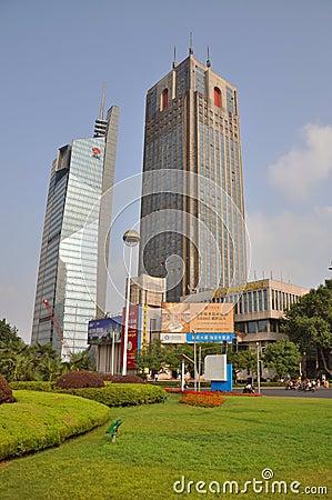 Nanjing Gulou Square Editorial Image