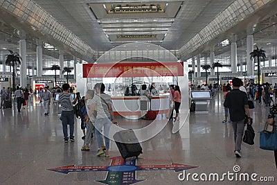 Nanjing south railway station Editorial Stock Photo