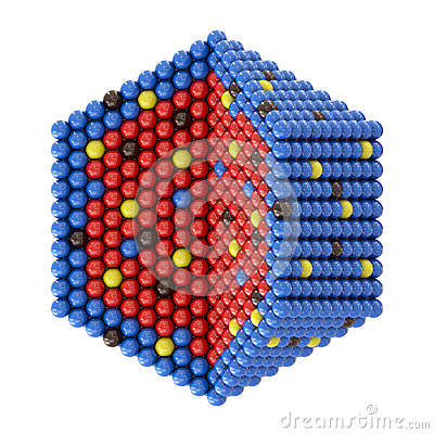 Nano particles in hexagonal cross section