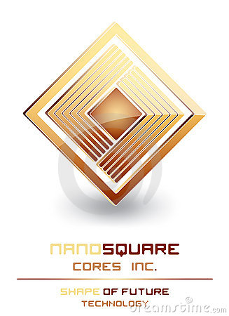 Nano technology processor cores logo sign
