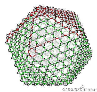 Nanocluster fullerene C720 molecular structure