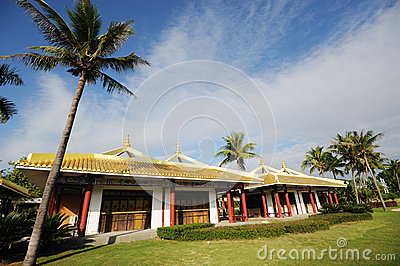 Nanshan culturele het toerismestreek van Sanya