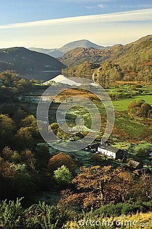 Nant Gynant valley farm, Snowdonia, North Wales