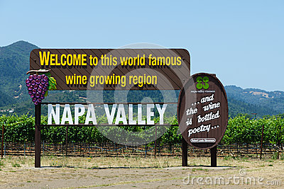 Napa Valley Sign. California