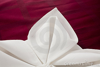 Napkin beautifully decorated