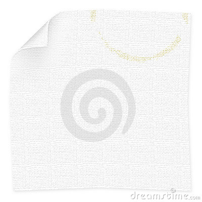 Napkin with coffee cup stain