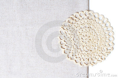 Napkin at the edge of a tablecloth