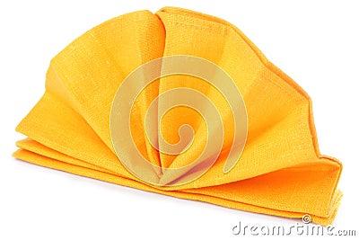 Napkin folded as fan