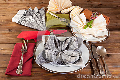 Napkin folding is an art