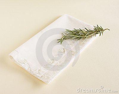 Napkin and Fresh Rosemary