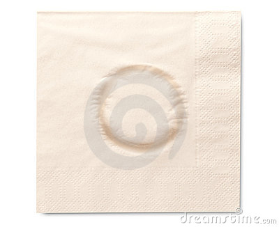 Napkin with glass stain