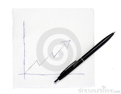 Napkin and graph 1