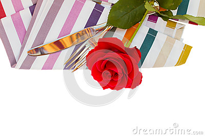 Napkin with knife and fork