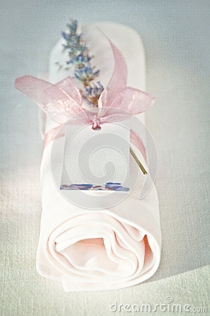 Napkin with lavender