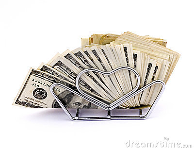 Napkins of hundred dollars