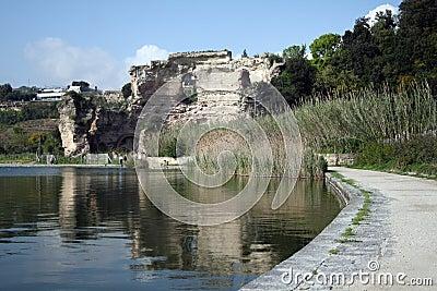 Naples-The Apollo temple inside the Averno Lake