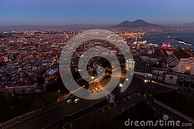Naples, castel sant elmo view Editorial Stock Photo