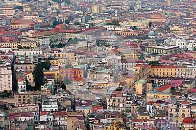 Naples in the evening