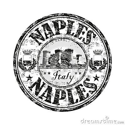 Naples grunge rubber stamp