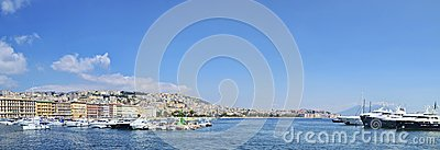 Naples Bay touristic harbor Editorial Photography