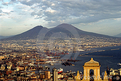 Naples And Mount Vesuvius Royalty Free Stock Photo - Image: 389025
