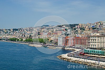 Naples seaside from the sea