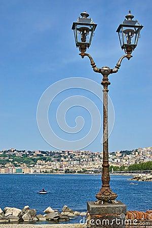 Lamp post on the sea