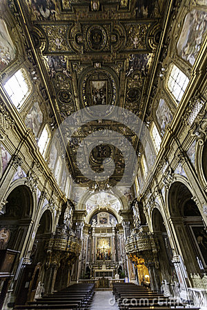 Naples, san domenico maggiore church Editorial Image