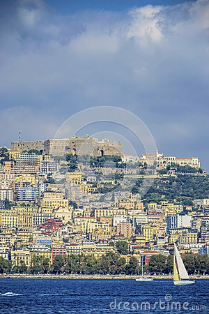Naples seaside vertical view Editorial Stock Photo