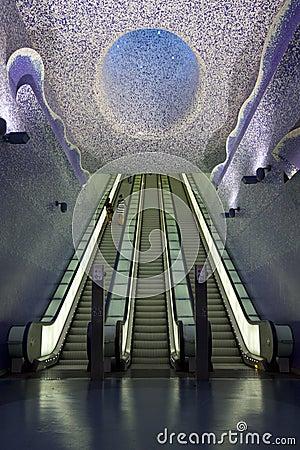 Free Naples Subway, Toledo Art Station. Royalty Free Stock Photos - 44041118