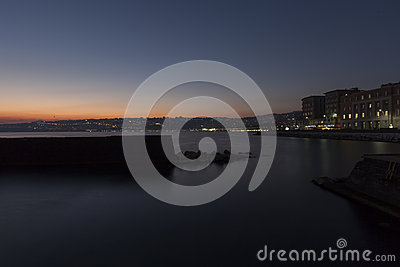 Naples, sunset Editorial Stock Image
